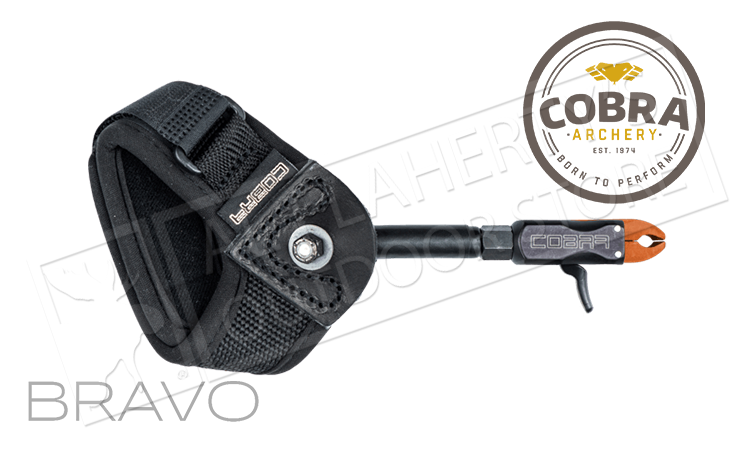 Cobra Archery Bravo Trigger Release in Black, Adjustable #C-4770