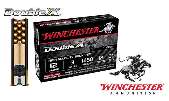 "<b>(Store Pickup Only)</b><br> 12 Gauge - Winchester Double X Buckshot Shells, 3"" 00-Buck, Box of 5 #SB12300"
