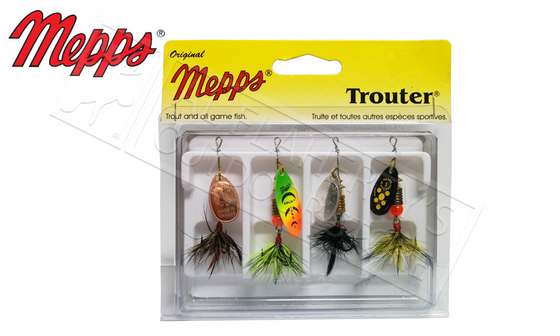 Mepps Kit - Trouter 4-Pack, Dressed #4-K1D