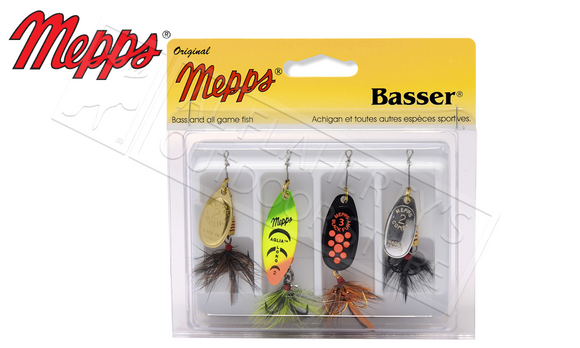 Mepps Kit - Basser 4-Pack, Dressed #4-K2D