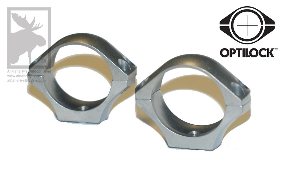Optilock Scope Rings, 30mm Extra Low Height, Stainless steel #S130R928
