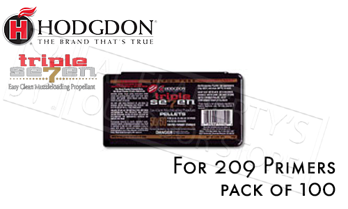 Hodgdon Triple Seven 50/50 Pre-Formed 50 Grain Pellets, Pack of 100