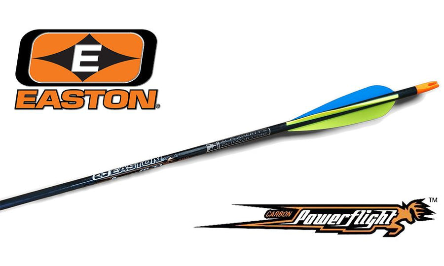 Easton Powerflight Carbon Fiber Arrows, Size 400 8.4 GPI #ARPF400