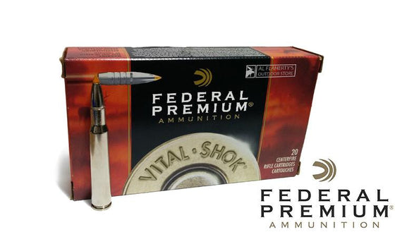 <b>(Store Pickup Only)</b><br> Federal Premium Vital Shok, .30-06 Spring., 180 Grain Trophy Bonded Tip, Box of 20 #P3006tt1