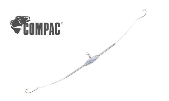 Compac 2-Way Flexible Arm Spreader with Snelled Hooks, #6 Baitholder #2WS