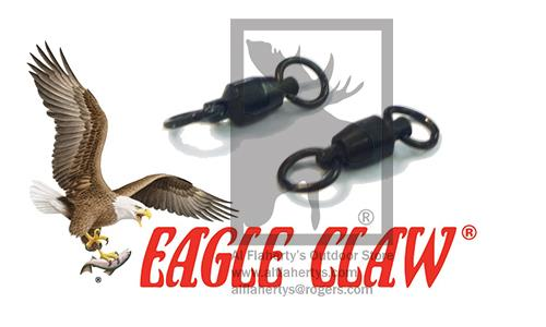 Eagle Claw Lazer Ball Bearing Swivels with Steel Rings, Size 2 - 39lbs, Pack of 2 #11082-002