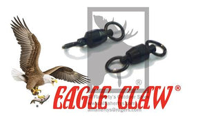 Eagle Claw Lazer Ball Bearing Swivels with Steel Rings, Size 3 - 76lbs, Pack of 2 #11082-003