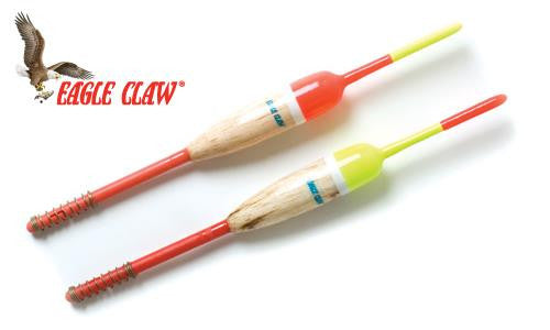 "Eagle Claw Snap-On Float, Pencil 1/2"" with 6"" Shaft, Pack of 2 #EC585W"