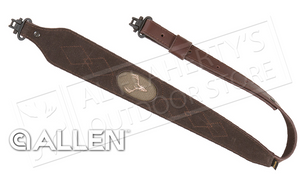 Allen Big Game Leather Rifle Sling with Swivels 8140