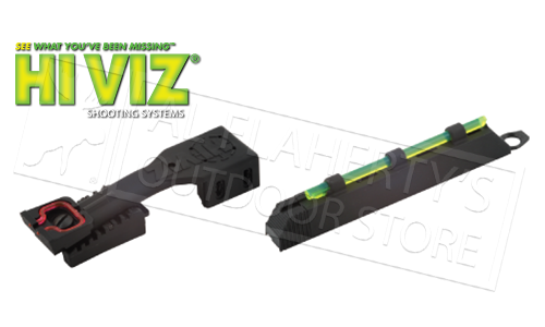 "HiViz Shotgun Front and Rear Fiber Optic Sight, 1/4"" & 9/32"" Ribs #FO2008-1"