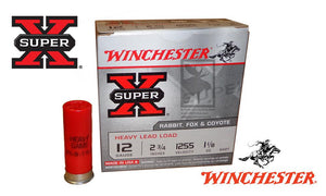 "<b>(Store Pickup Only)</b><br>12 Gauge, Winchester Super X Heavy Upland Shells, #2 Shot, 2-3/4"", 1-1/8 oz., 1255 fps, Box of 25 #W12H2"