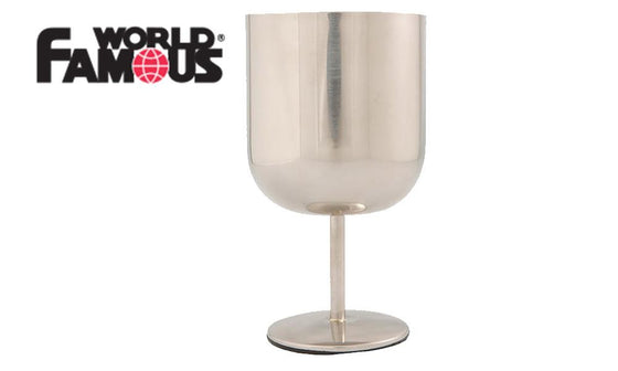World Famous Flat Bottom Stainless Steel Wine Glass #695