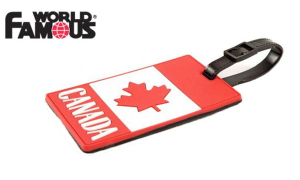 World Famous Canadian Flag Luggage Tag #2140