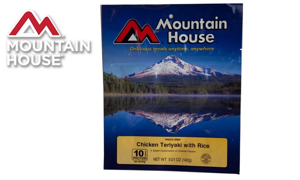 Mountain House Pack, Chicken Teriyaki with Rice, 2.5 Servings #53124