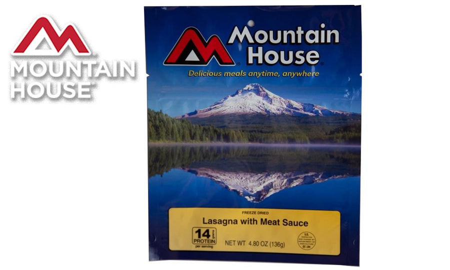 Mountain House Pack, Lasagna with Meat Sauce, 2.5 Servings #53127