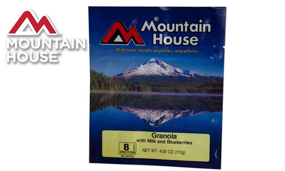 Mountain House Pack, Granola with Milk and Blueberries, 2 Servings #53449