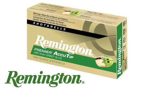 "<B>(Store Pickup Only)</b><br> 12 Gauge - Remington Premier AccuTip Bonded Sabot Slugs, 2-3/4"", Box of 5 #PRA12"