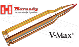 Hornady 22-250 Rem, V-Max 55 Grain Box of 20 #8337
