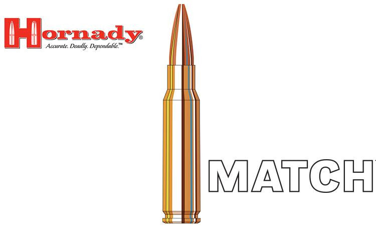 <b>(Store Pickup Only)</b><br>Hornady Match BTHP 308 WIN, 168 Grain, Box of 20 #8097