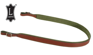 "Levy's Leathers Leather & Suede Rifle and Shotgun Sling, 38"", Black #SN94-WAL"