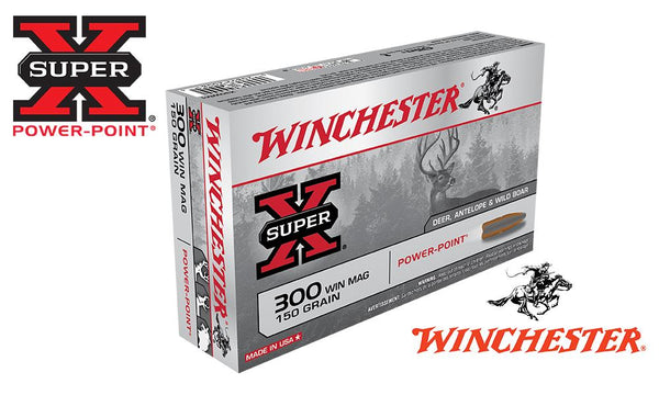 Winchester Super X, .300 Win Mag Power Point, 150 Grain Box of 20 #X300WM1