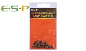 E-S-P Hi Performance Carp Swivels, Size 9, Pack of 20 #ESCSWL