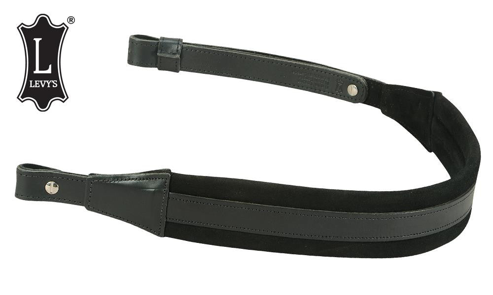 Levy's Leathers Padded Suede and Leather Rifle Sling, Black & Black #SN14-BLK/BLK