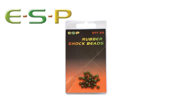 E-S-P Rubber Shock Beads, 8.0mm Pack of 25 #ESBD80