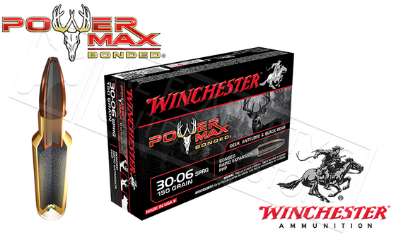 Winchester 30-06 Springfield Power Max, Bonded HP 150 Grain Box of 20 #X30061BP