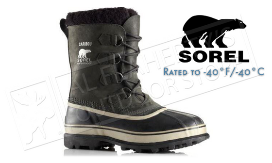 Sorel Footwear Caribou Boot - Tusk & Black Men's #NM1000014
