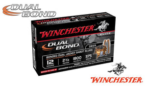 "<b>(Store Pickup Only)</b><br>12 Gauge, Winchester Supreme Elite Dual Bond Sabot Slugs, 2-3/4"", 375 Grain, 1800 fps, Box of 5 #SSDB12"
