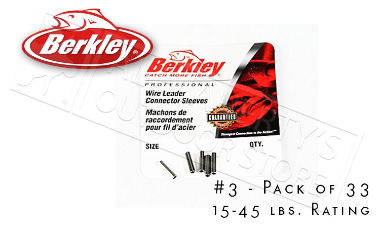 Berkley Berkley Connector Sleeves for Leaders, Size 3 Pack of 33 #B3BL