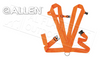 Allen Dual Strap Deer Drag Harness Blaze Orange #33