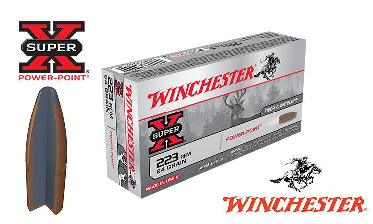<b>(Store Pickup Only)</b><br>Winchester Super X, .223 Power Point, 64 grain, Box of 20 #X223R2