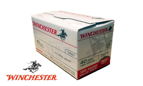(Store Pickup Only) Winchester .40S&W Value Pack, 165 Grain, Box of 100 #USA40SWVP
