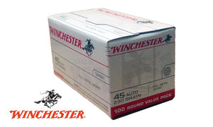(Store Pickup Only) Winchester .45ACP Value Pack, 230 Grain, Box of 100 #USA45AVP