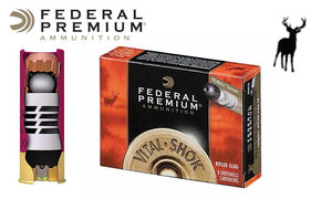 "<B>(Store Pickup Only)</b><br> 20 Gauge - Federal Vital Shok TruBall Rifled Slugs, 2-3/4"", Box of 5 #PB203RS"