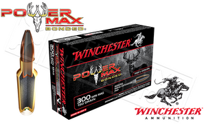 Winchester 300 Winchester Magnum Power Max, Bonded HP 150 Grain Box of 20 #X30WM1BP