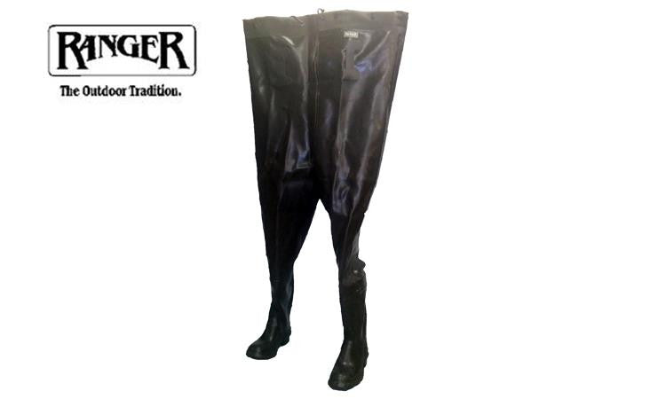Ranger 206 Series Rubber and Canvas Waders with Integrated Boots