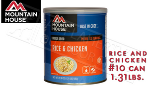 Mountain House Can, Rice and Chicken, 10 Servings, 1.31lbs #30105