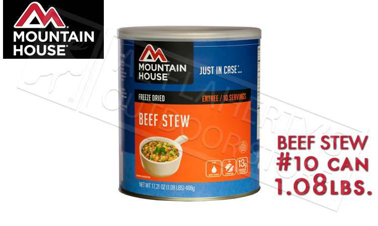 Mountain House Can, Beef Stew, 10 Servings, 1.08lbs #30114