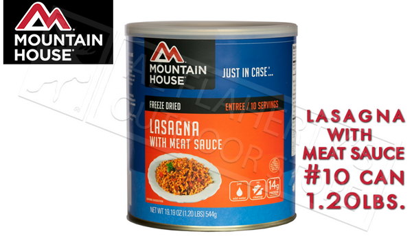 Mountain House Can, Lasagna with meat Sauce, 10 Servings, 1 lb #30127