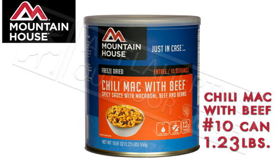 Mountain House Can, Chili Mac with Beef, 10 Servings, 1 lb #30128