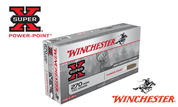 Winchester Super X, 270 WSM, Power Point, 150 Grain Box of 20 #X270WSM