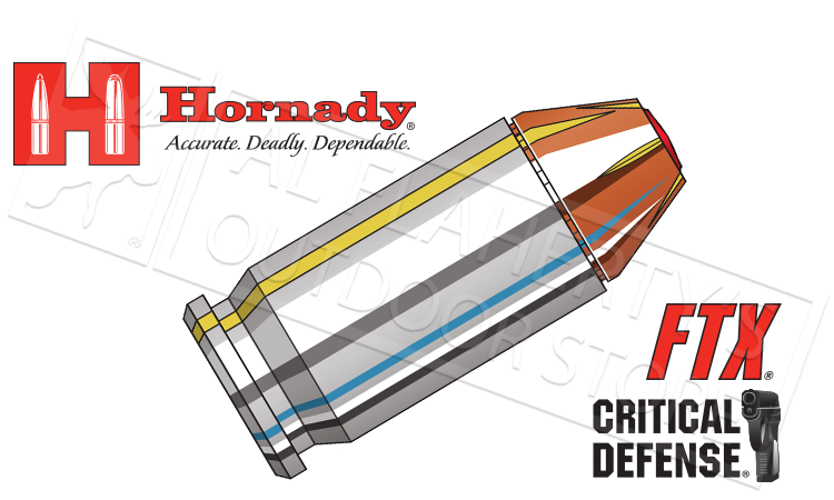 Hornady #90900 .45ACP Critical Defense, FTX 185 Grain Box of 20