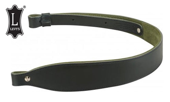Levy's Leathers Padded Leather Cobra Rifle Sling, Black #SN22P-BLK
