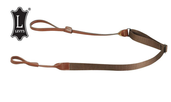"Levy's Leathers Shotgun Loop Sling, Leathery and Polypropylene, Adjustable to 45"", Brown #S95N-BR"