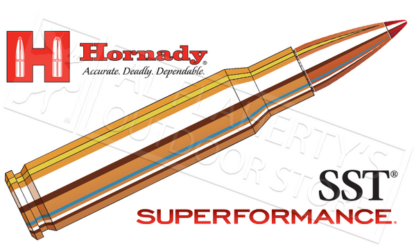 Hornady #80983 308 WIN Superformance, SST 165 Grain Box of 20