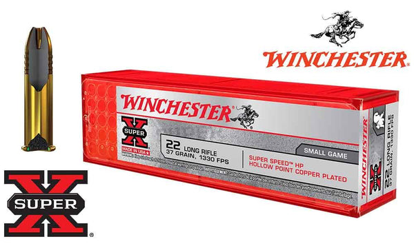 <b>(Store Pickup Only)</b><br>Winchester .22LR Super X, 36 Grain Hollow Point, 1330 FPS, 100 Round Box #X22LRHSS1