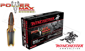 Winchester 300 Winchester Magnum Power Max, Bonded HP 180 Grain Box of 20 #X30WM2BP